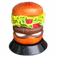 FIBERGLASS HAMBURGER CAKE MODEL