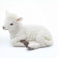 DECORATION GARDEN ANIMAL LIFE FIBERGLASS SHEEP