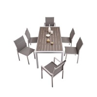 ALUMINUM OUTDOOR TABLE AND CHAIRS SET