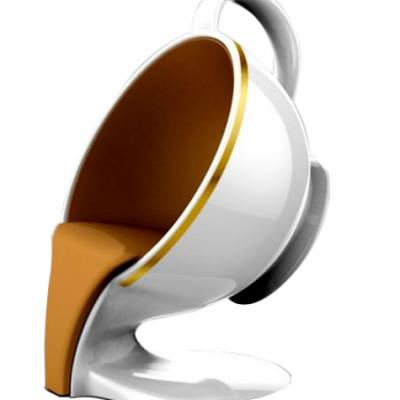 Frp fiberglass coffee cup shaped chair