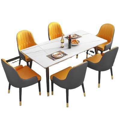 MORDERN SIMPLE STYLE DINING ROOM - RECTANGLE DINING TABLE CHAIR SET