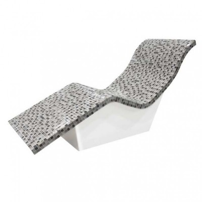 Fiberglass heated spa lounge chairs