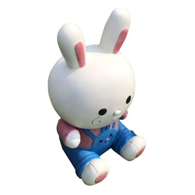 FIBERGLASS LOVELY RABBIT STATUE MODEL