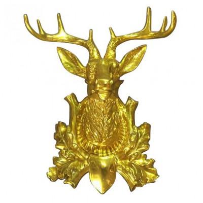 Fiberglass head of the reindeer model