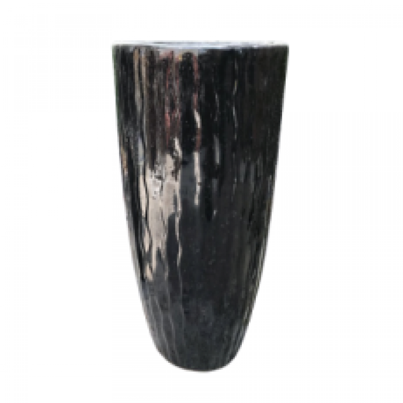 FIBERGLASS SERRATED FLOWER POT